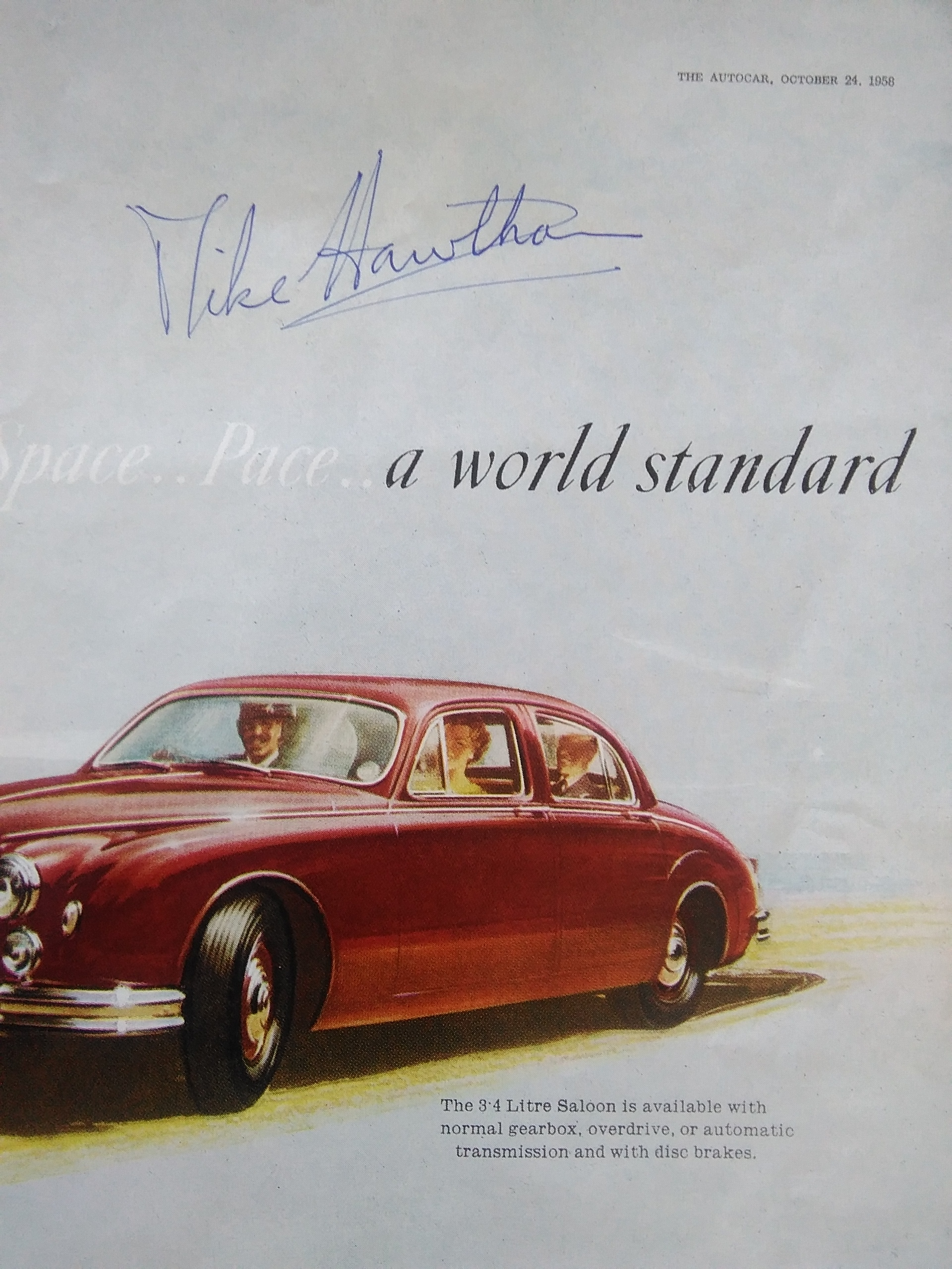 Mike Hawthorn Signed