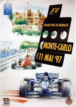 Original 1997 Monaco F1 GP Poster