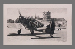 Spitfire Taxiing Catterick 1941