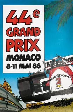Monaco 1986 Poster