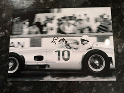 Stirling Moss Mercedes Signed Photo