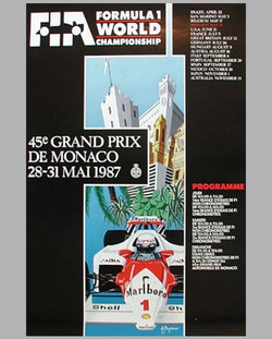 Original 1987 Monaco Poster