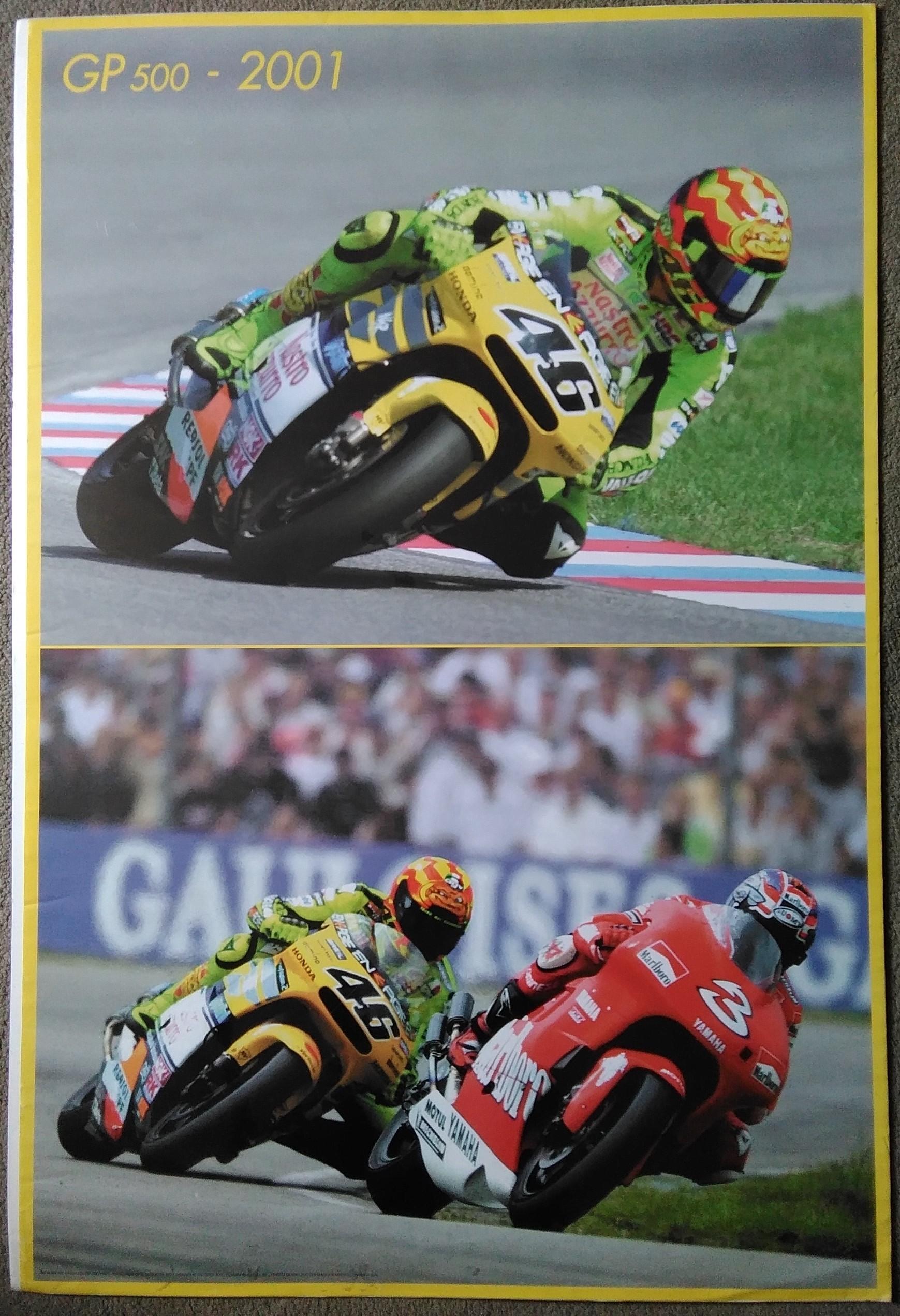 Rossi/Biaggi-Rossi 2001 500GP Poster