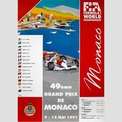 1991 Monaco Poster