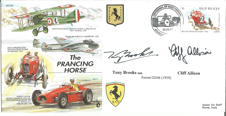Tony Brooks-Cliff Allison Signed