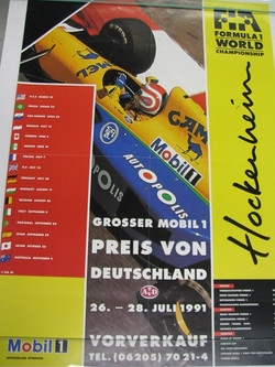 1991 Hockenheim GP Poster