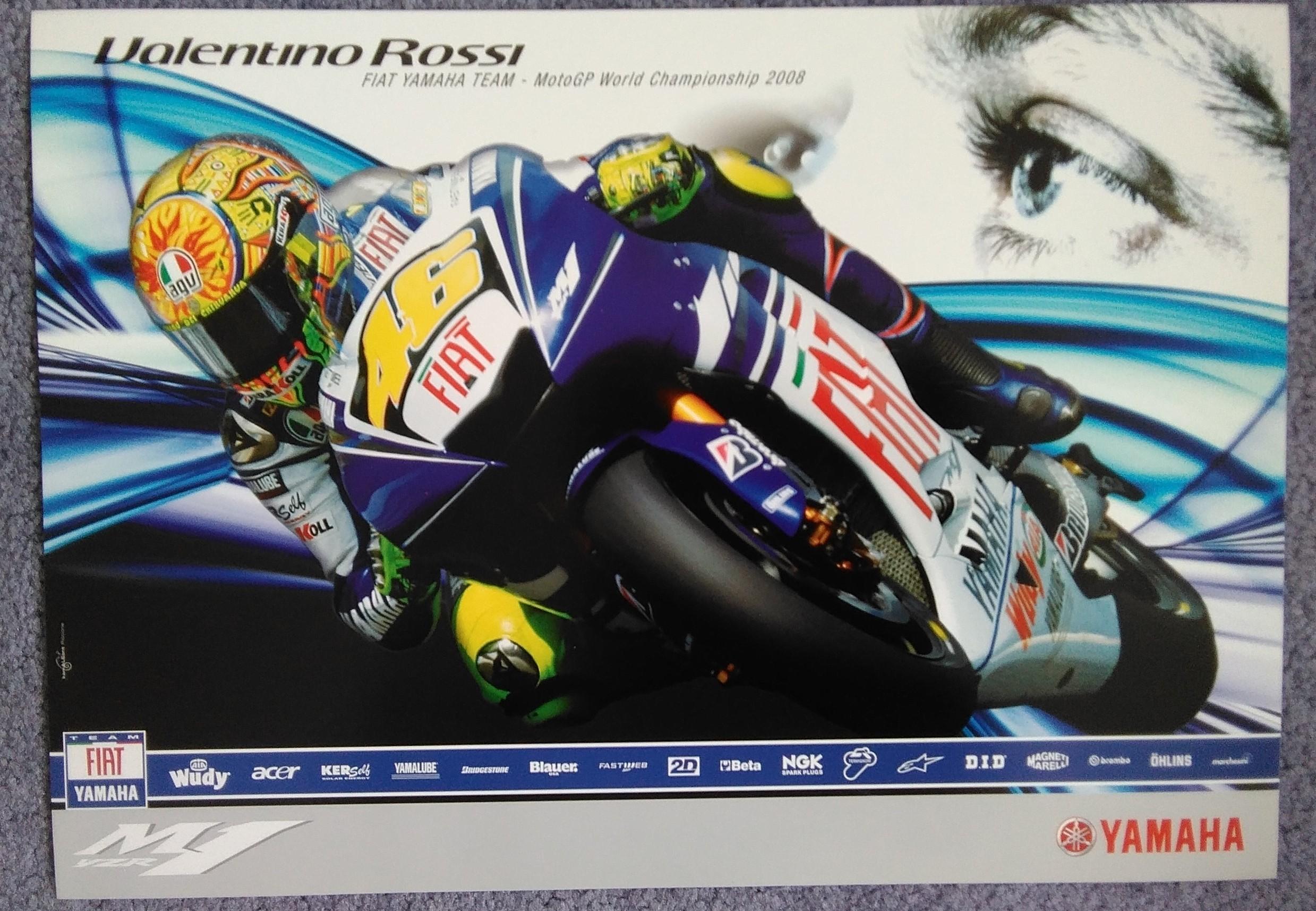 Valentino Rossi 2008 Team Poster