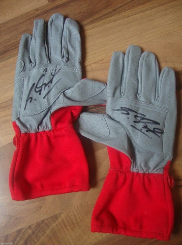 Schumacher Signed Race Gloves
