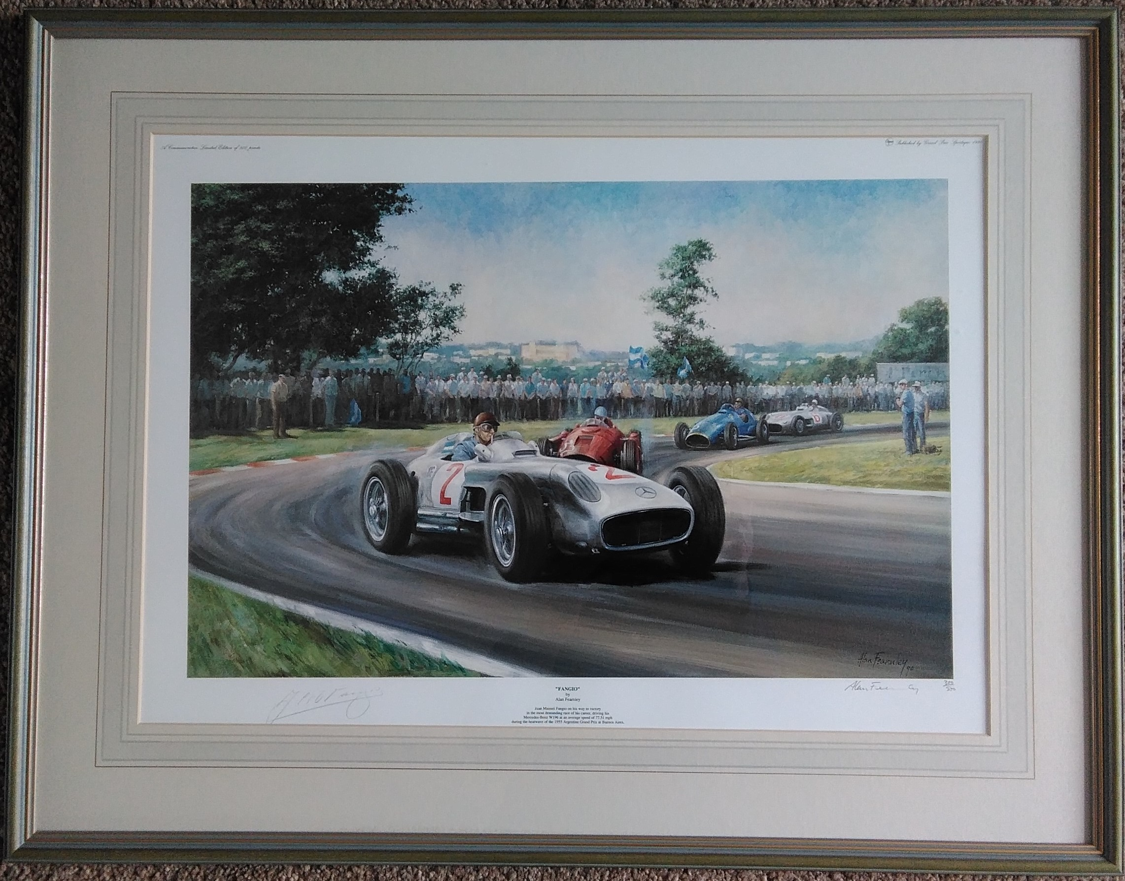 Alan Fearnley 'Fangio'-Fangio Signed