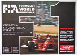 1990 Monza F1 GP Poster