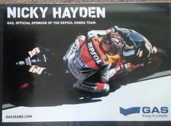 Nicky Hayden Repsol Honda Gas Poster