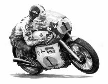 Giacomo Agostini Pencil Art