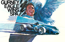 Dan Gurney Eagle Win Poster