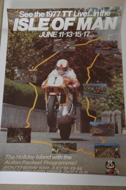 Original Isle Of Man TT Poster 1977