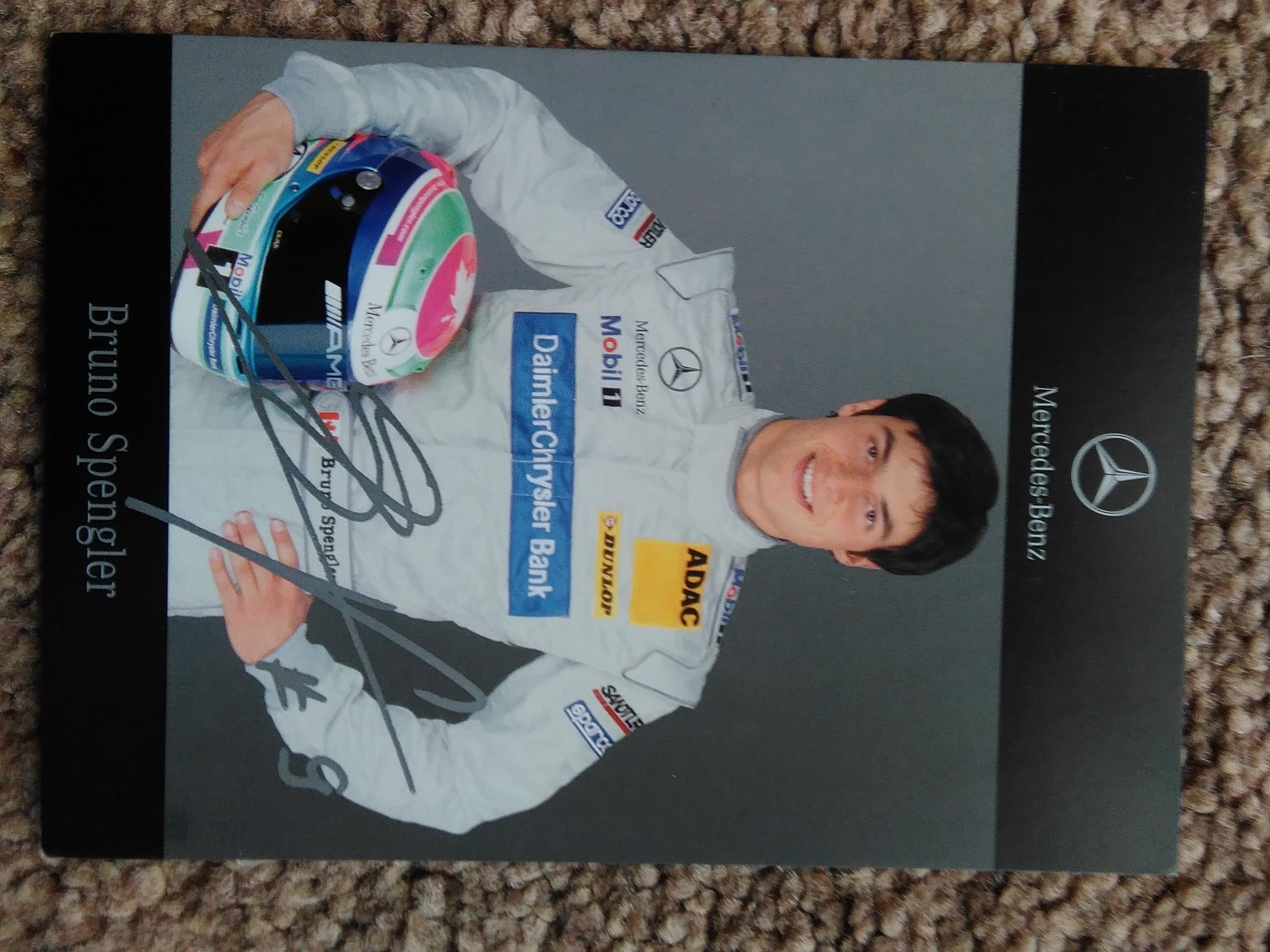 Bruno Spengler Signed DTM Card