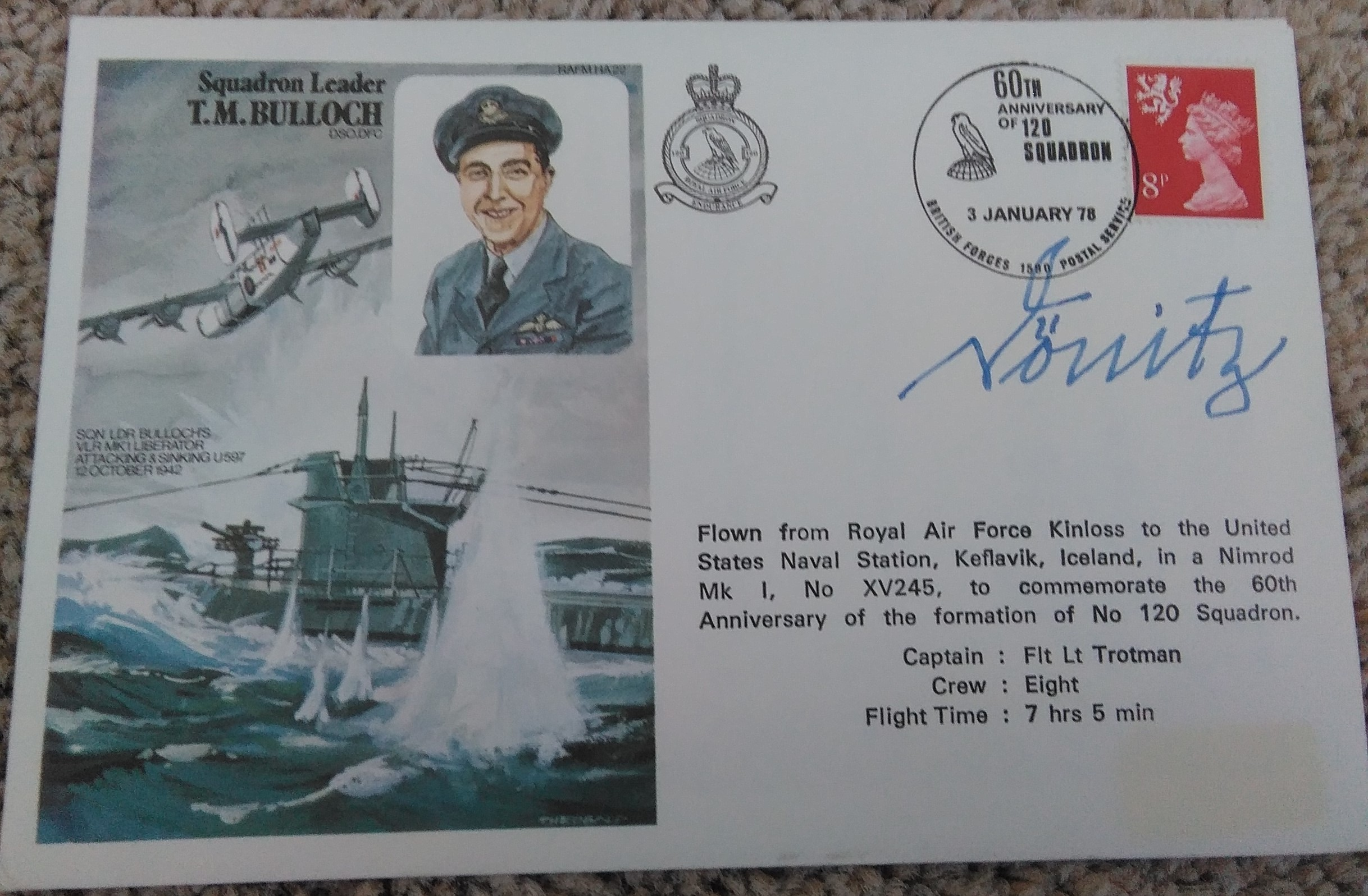 Admiral Karl Donitz Signed Cover