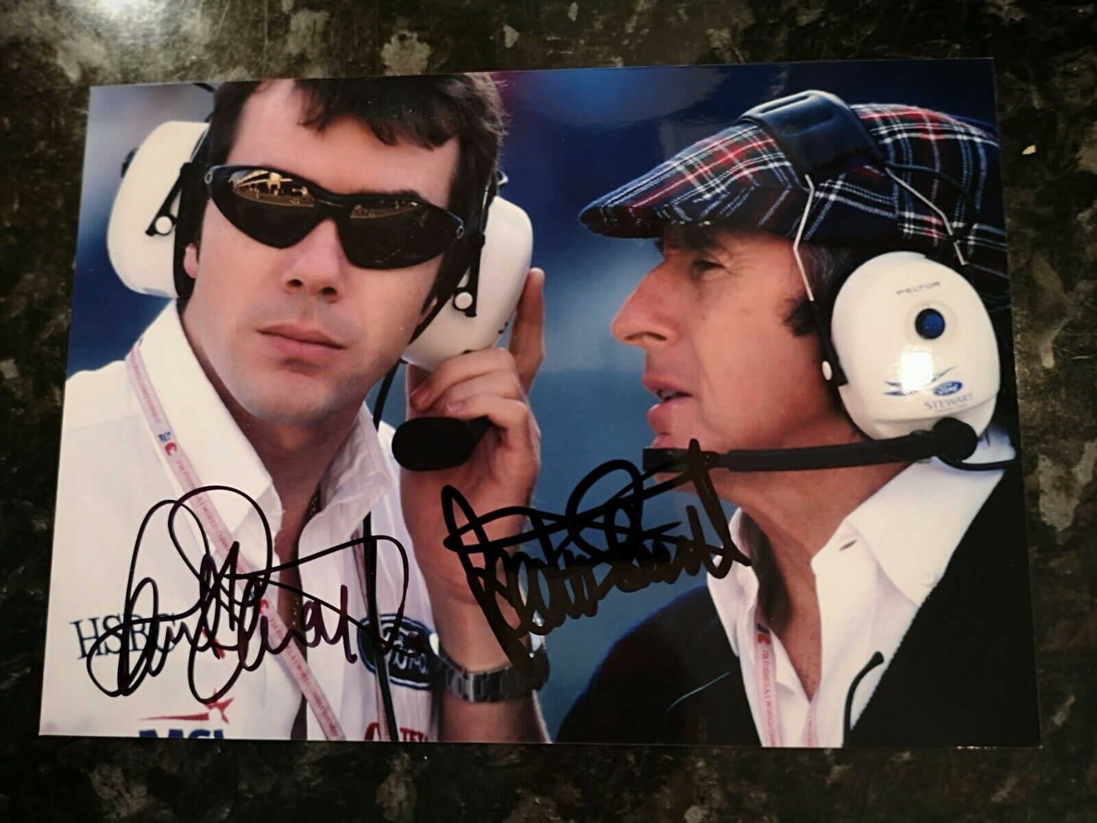 Paul and Jackie Stewart Signed