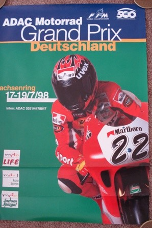 Original Poster For 1998 German Bike GP