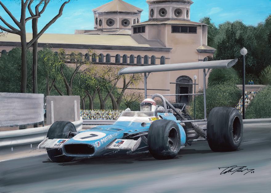 Jackie Stewart 1969 Spanish GP Matra
