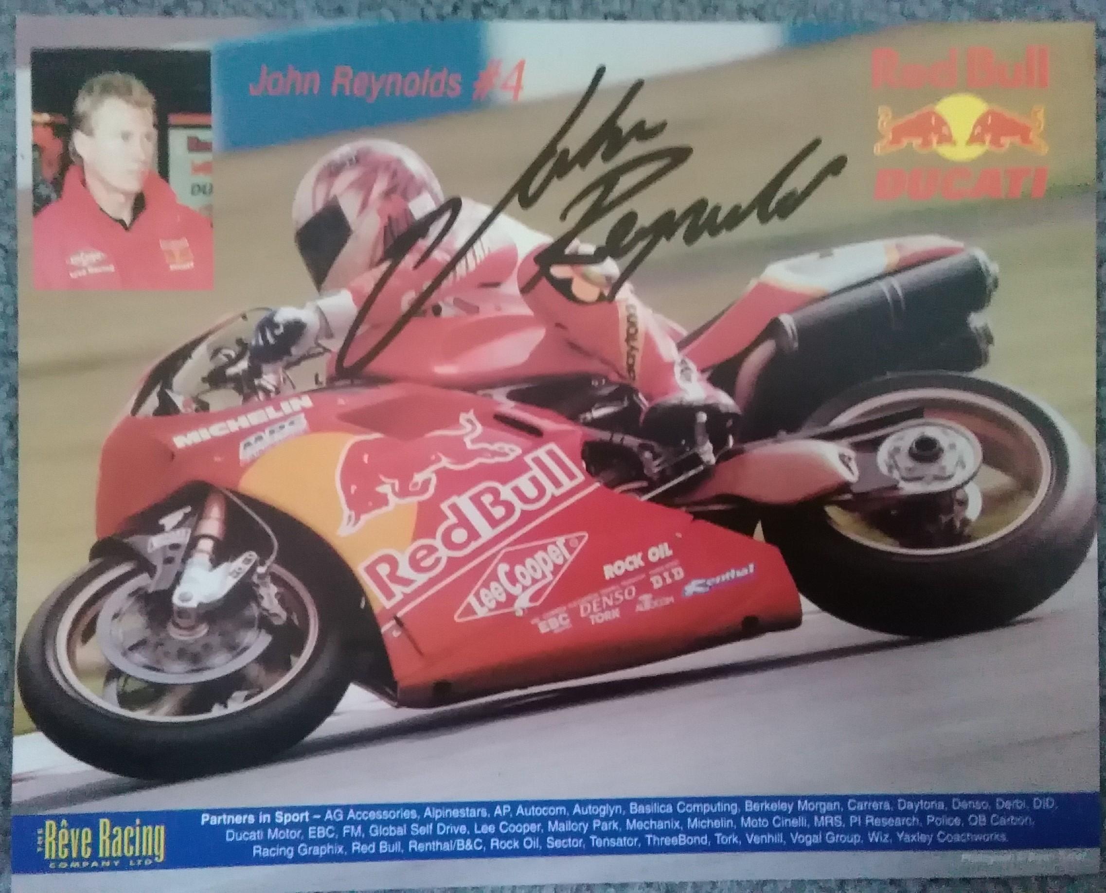John Reynolds-Red Bull Ducati-Signed
