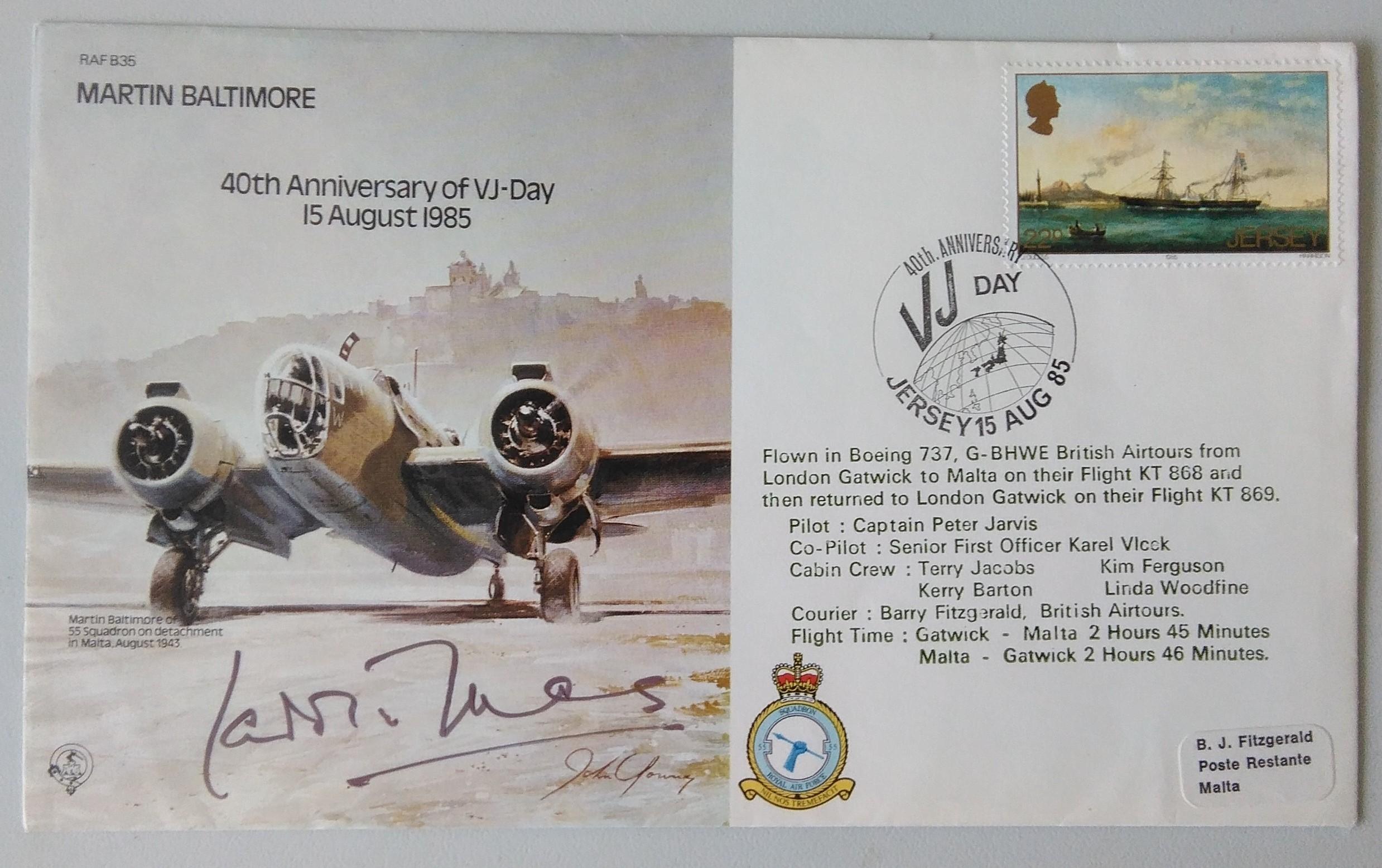 40th Anniversary of VJ Day 15-8-1945