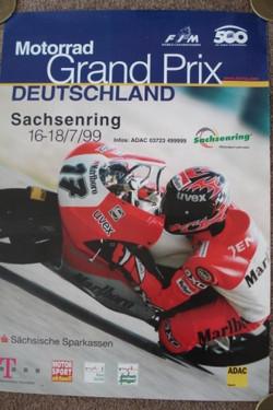 Original 1999 German Motorcycle GP Poster