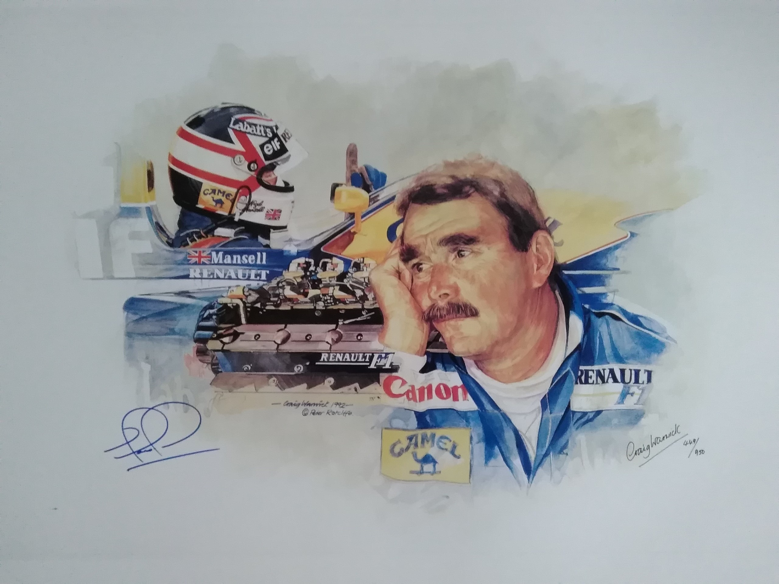 Nigel Mansell 'Man and Machine' by Craig Warwick