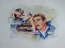 Nigel Mansell 'Man and Machine' by Craig Warwick