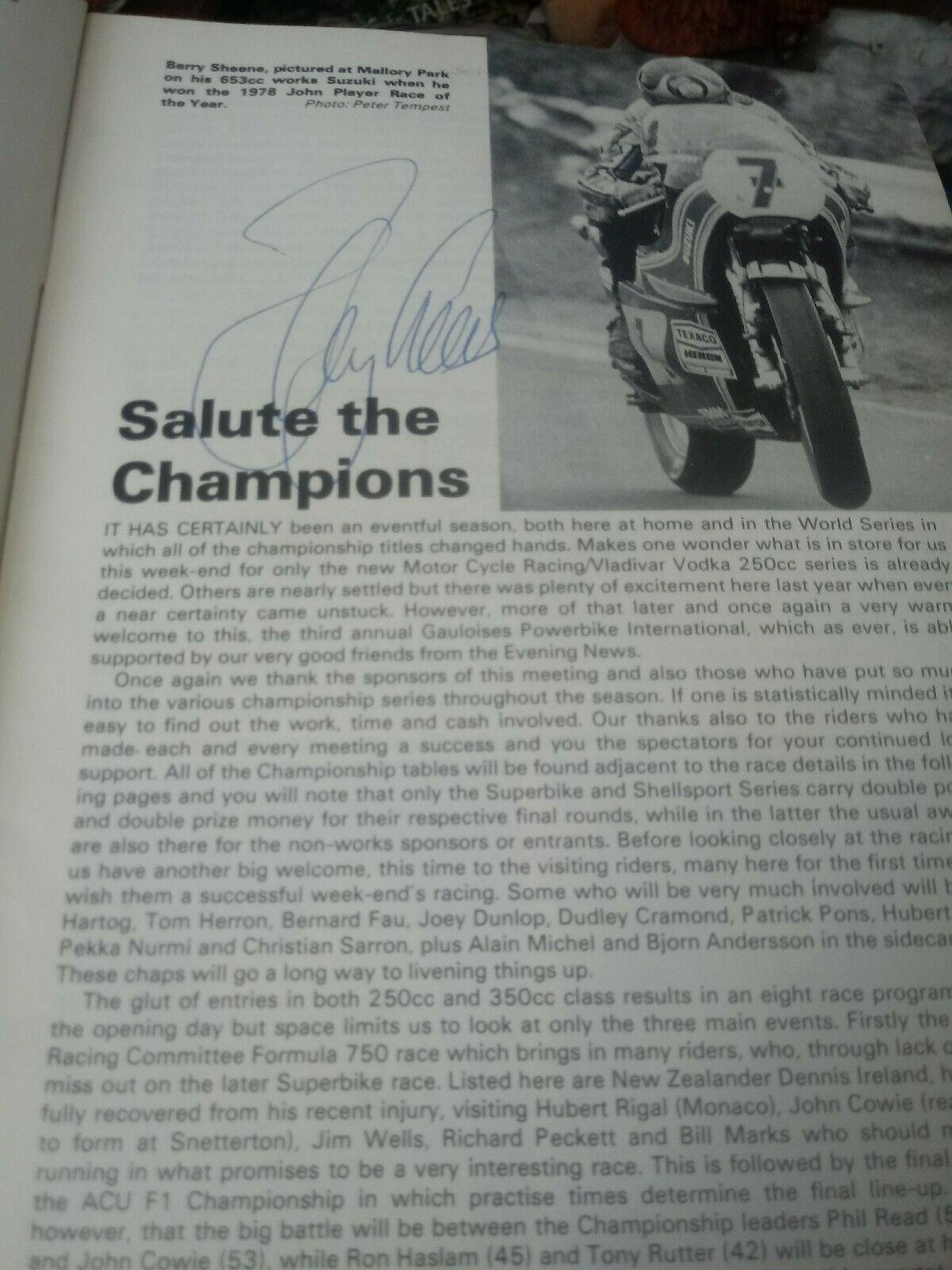 Sheene Signed Programme