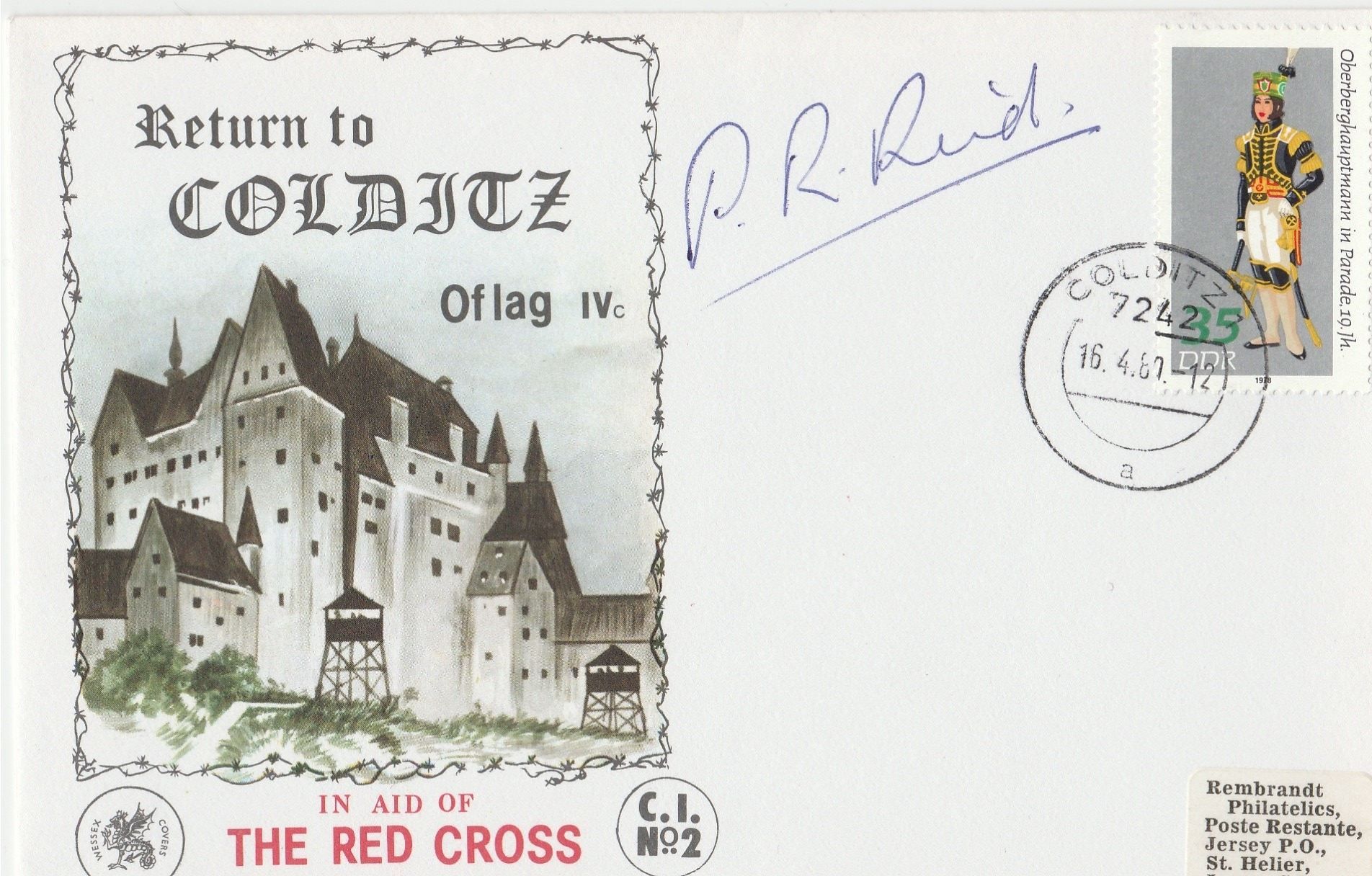 Colditz-Red Cross-Pat Reid Signed
