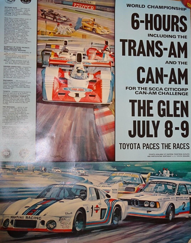 1978 Can-Am Poster-Watkins Glen