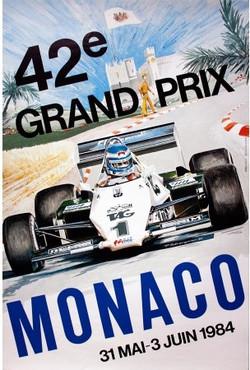 Original Monaco Grand Prix Poster-1984
