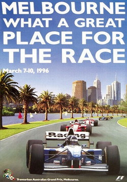 Australian F1 Poster 1996 Damon Hill