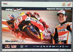 Marc Marquez Repsol Team Poster