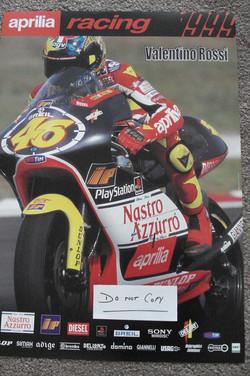 1999 Valentino Rossi Aprilia Poster