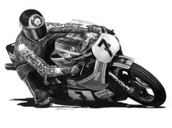 Barry Sheene Pencil Drawing