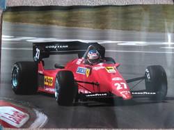 Alboreto Ferrari Poster