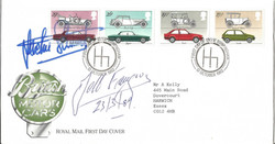 Jackie Stewart-J.M.Fangio Signed FDC