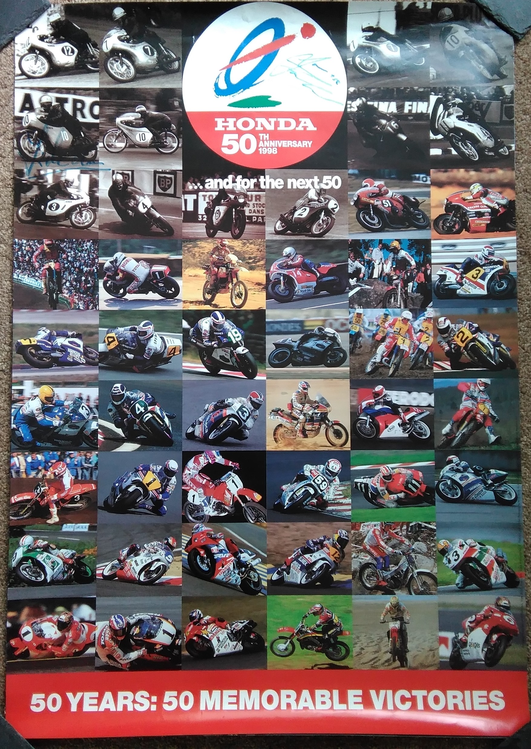 Honda 50 Great Winners during 50 Years Poster