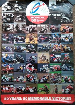 Honda 50 Great Winners during 50 Years Poster