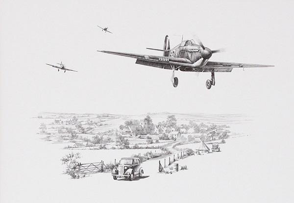 Churchills Few by Nicolas Trudgian