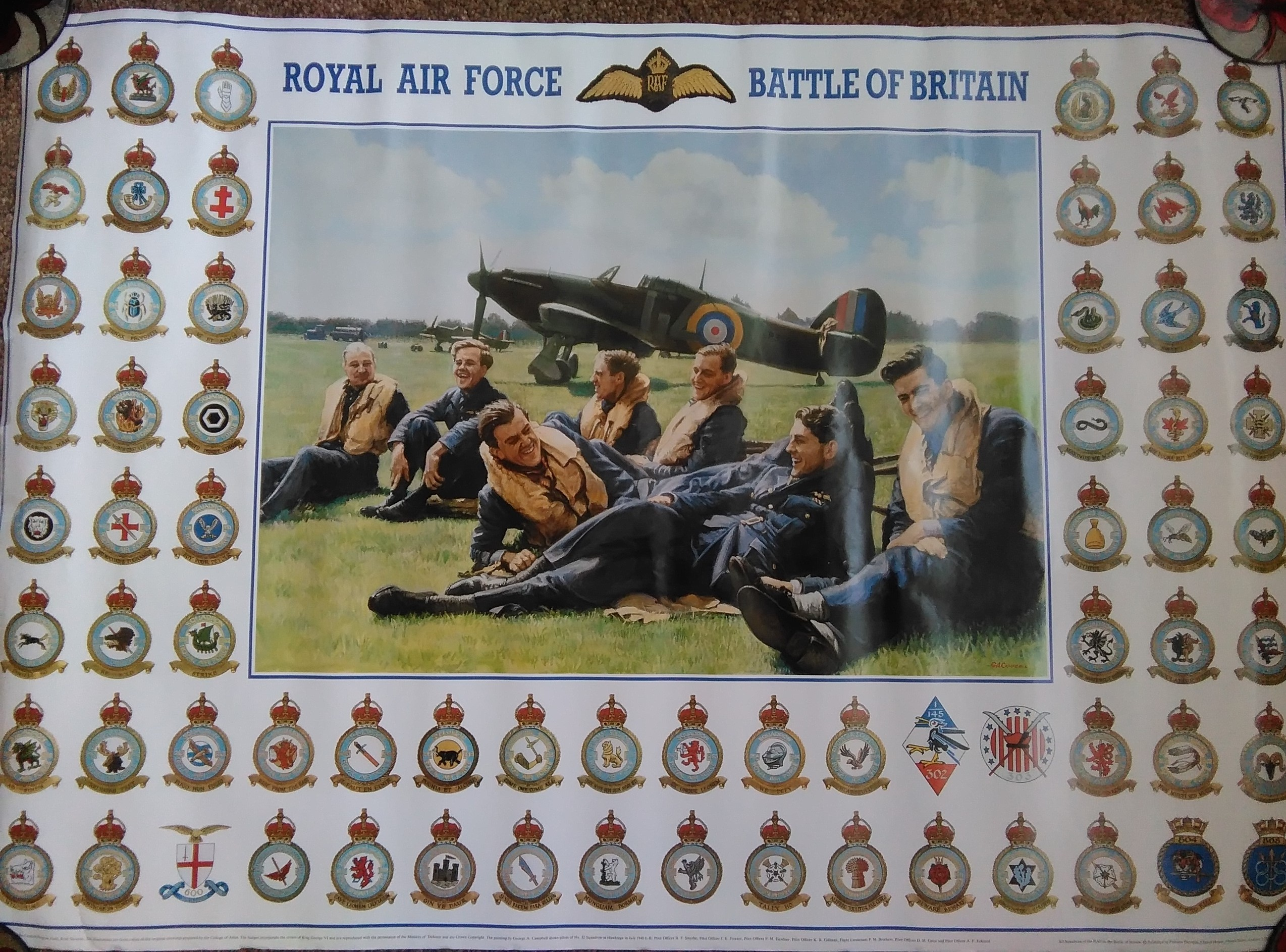 RAF Battle Of Britain Poster