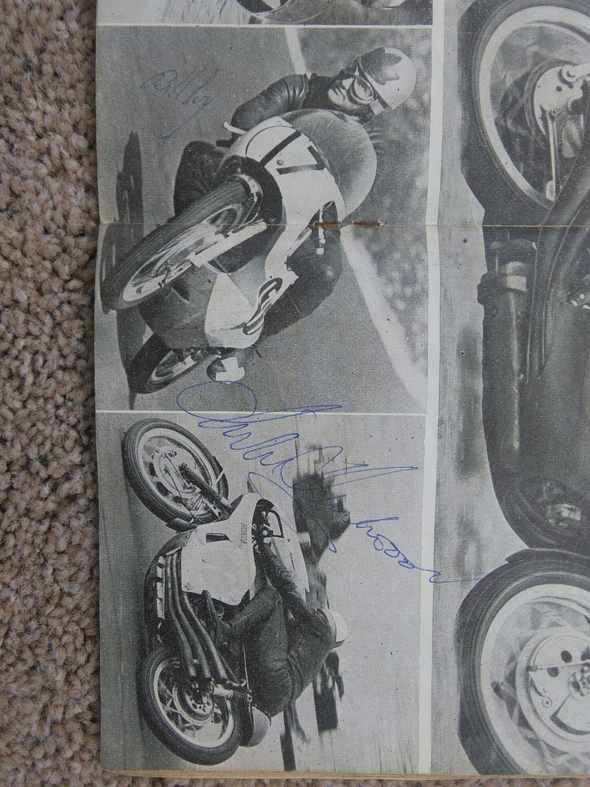 Mike Hailwood/Bill Ivy Signed