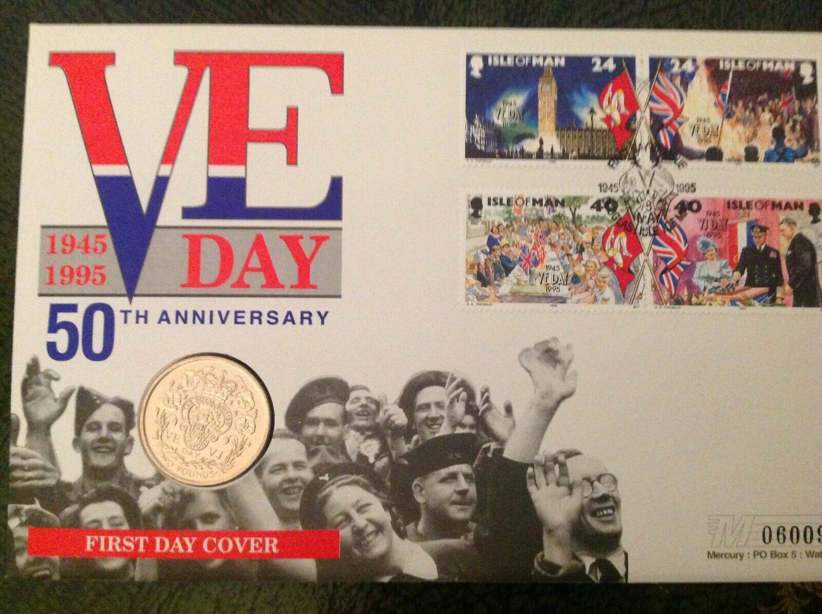 VE Day 50th Anniversary FDC with Coin