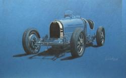 Bugatti Type 35 Blue.