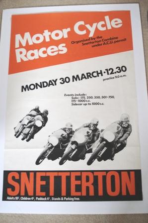 Snetterton Original 1970 Race Poster