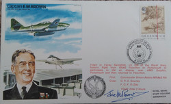 Eric Brown Signed First Day Cover