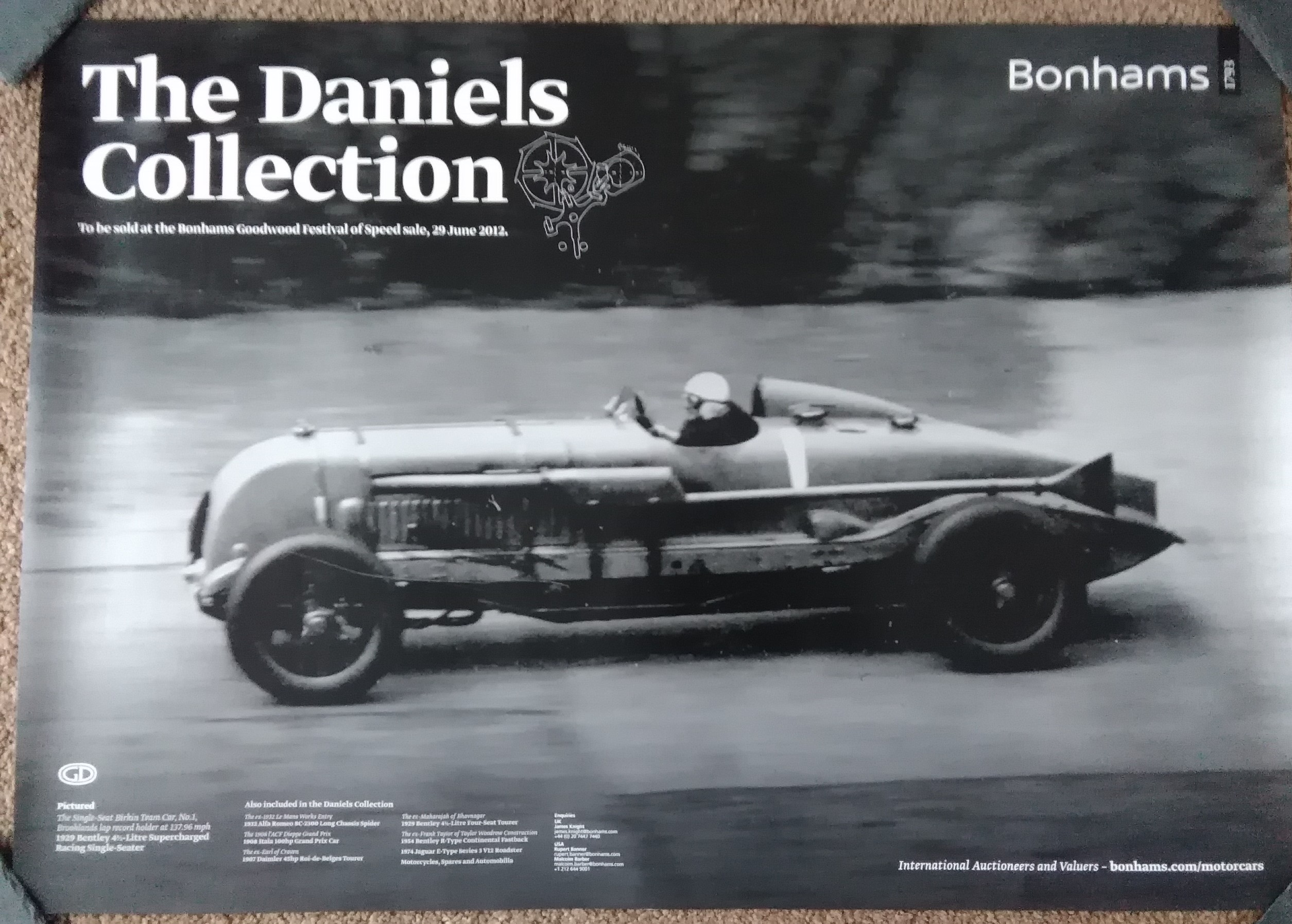 Goodwood 2012 Bonhams Auction Poster