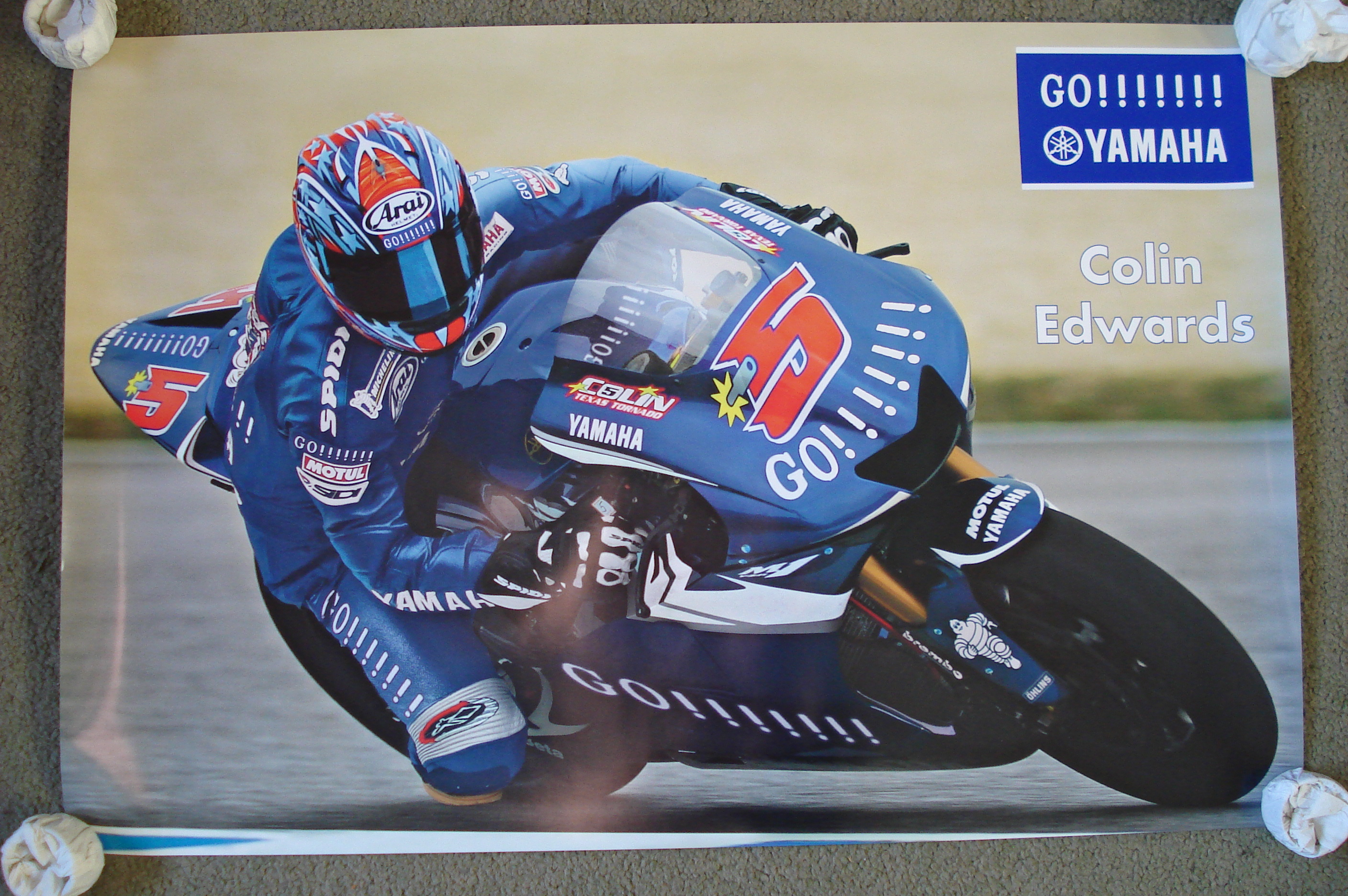 Colin Edwards Yamaha Team Poster