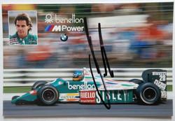 Gerhard Berger Signed-Benetton